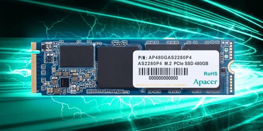 Movimiento de prueba el Apacer AS2280P4 de 480GB